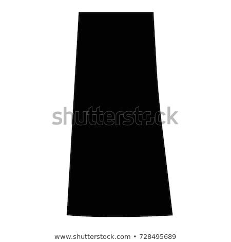 Kaart saskatchewan zwarte vector Canada geïsoleerd Stockfoto © rbiedermann
