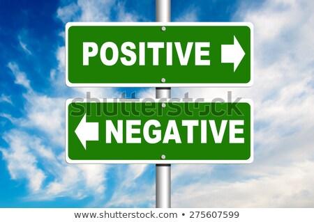 Döntés útkereszteződés pozitív negatív út boldog Stock fotó © Zerbor