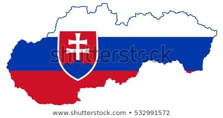 Eslovaquia · bandera · banderas - foto stock © tony4urban