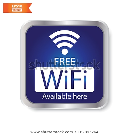free wifi here sign concept stock photo © ikopylov