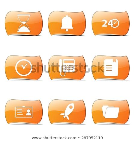 Time Duration Orange Vector ButtonIcon Design Set Stock photo © rizwanali3d