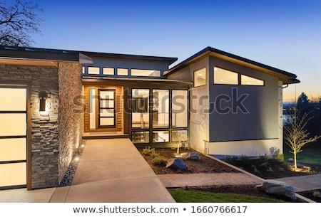 Современная архитектура аннотация стены небе солнце синий Сток-фото © manfredxy