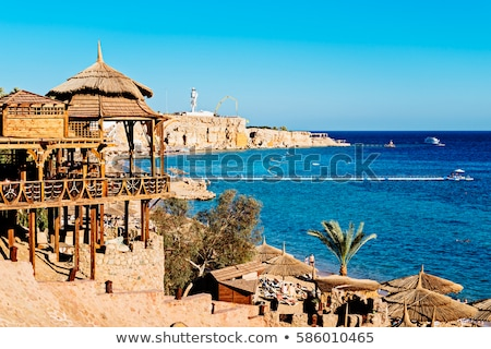 Panorama of the beach at reef, Sharm el Sheikh Stock photo © master1305