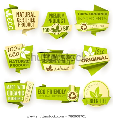 Genuíno produto verde vetor ícone projeto Foto stock © rizwanali3d