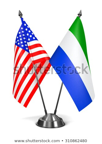 USA and Sierra Leone - Miniature Flags. Stock photo © tashatuvango