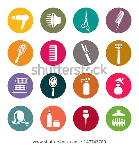 Hairdresser setting curlers in hair Stock photo © wavebreak_media