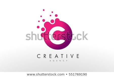 abstract vector logo letter C Stock photo © netkov1