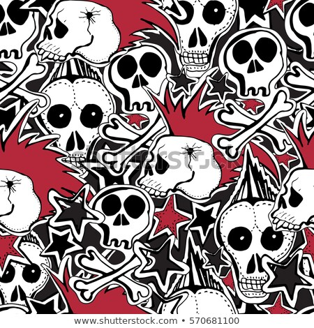 doodle skull pattern stock photo © netkov1
