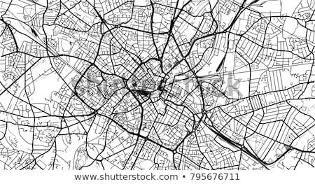 Straßenkarte Birmingham rot Pin Stadt Karte Stock foto © chris2766