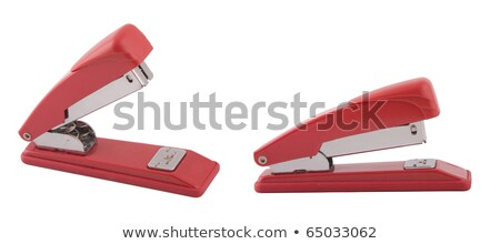 Deux points de vue de l'agrafeuse rouge Photo stock © caimacanul