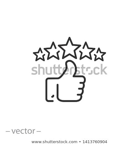 Satisfação do cliente ouro vetor ícone internet projeto Foto stock © rizwanali3d