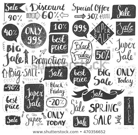 Sale tag icon drawn in chalk. Stock photo © RAStudio