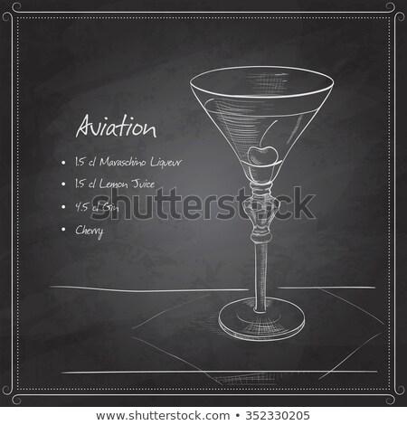 coctail aviation on black board Stock photo © netkov1
