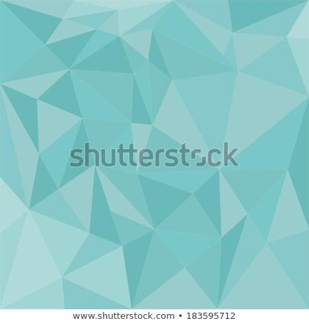Donkere pastel groene abstract laag veelhoek Stockfoto © patrimonio