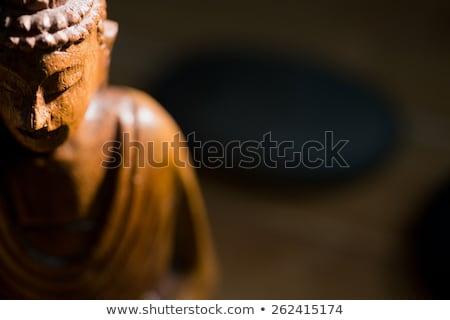 Houten buddha standbeeld tabel shot studio Stockfoto © wavebreak_media