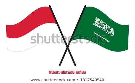Arábia Saudita Mônaco bandeiras quebra-cabeça isolado branco Foto stock © Istanbul2009