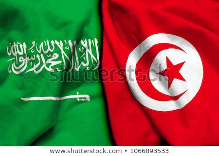 Saudi Arabia and Tunisia Flags  Stock photo © Istanbul2009