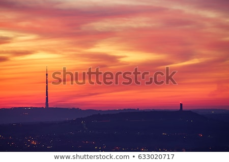 Emley Moor television mast in West Yorkshire Stock photo © chris2766