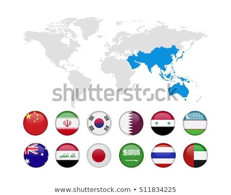 Szaúd-Arábia Üzbegisztán zászlók puzzle izolált fehér Stock fotó © Istanbul2009