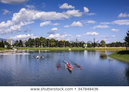 roeien · team · vier · start · regatta · samen - stockfoto © smuki