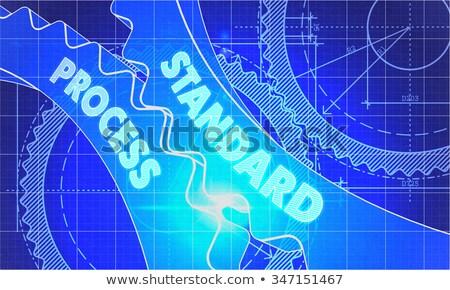 стандартный процесс план стиль механизм Сток-фото © tashatuvango