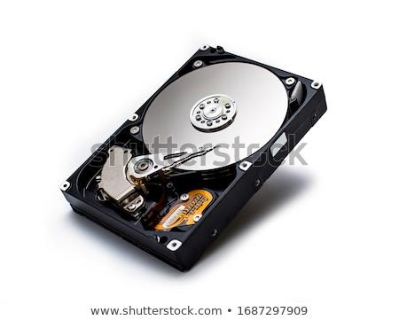 Sabit disk beyaz güvenlik veri devre Stok fotoğraf © bdspn