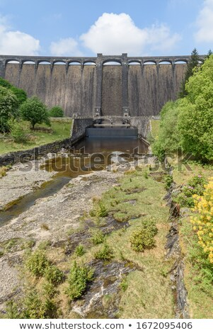 The river Elan flowing in to Craig Goch reservoir, Elan Valley Wales. Stock photo © latent