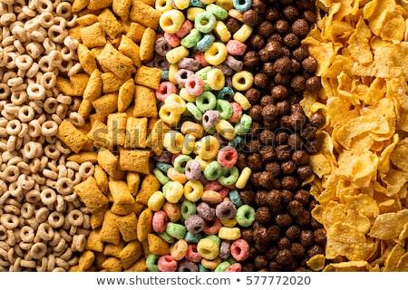 Ontbijtgranen kom gemengd ontbijt granen gedroogd Stockfoto © Digifoodstock
