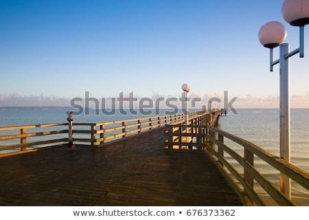 Świt molo wyspa rano Niemcy plaży Zdjęcia stock © CaptureLight