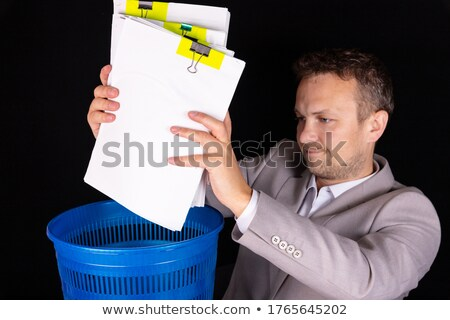 Boekhouding records laptop moderne werkplek Stockfoto © tashatuvango
