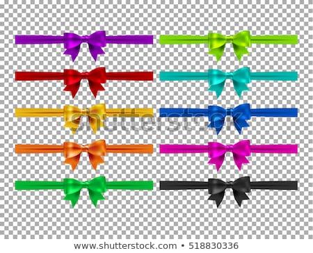 Beautiful bow on white background. EPS 10 Stock photo © beholdereye