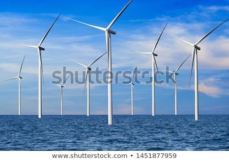 Stok fotoğraf: Rüzgâr · jeneratör · manzara · mavi · gökyüzü · güneş · doğa
