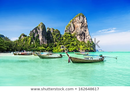 longtemps · queue · bateau · plage · Thaïlande · plage · tropicale - photo stock © mikko