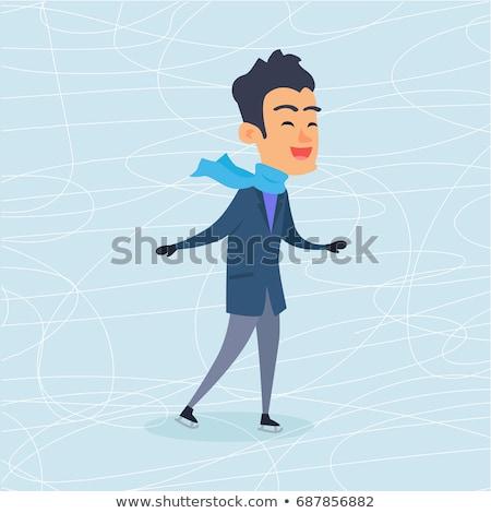 люди · катание · стиль · дизайна · катание · на · коньках · фигурное · катание - Сток-фото © robuart