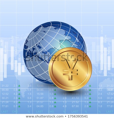 Stock photo: Globe and Yuan
