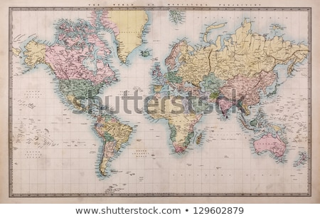vintage · mapa · do · mundo · mundo · digital · arte · papel - foto stock © lizard