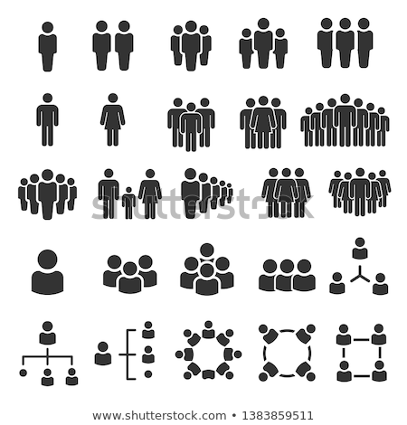 Stock photo: Silhouette people icons illustration