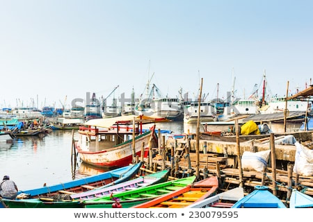 Stock photo: Harbour ship and boat docks in Jakarta, Indonesia