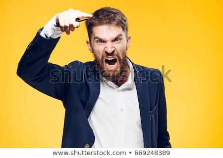 Schreien aggressive Mann Vektor Design Illustration Stock foto © RAStudio