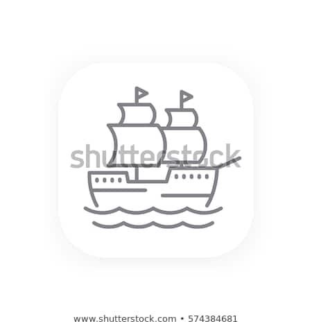 デッキ · 古い · 船 · 空っぽ · オープン · 海 - ストックフォト © rastudio