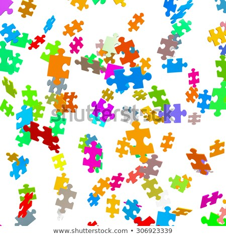 Motley abstract background with puzzle Stock photo © boroda