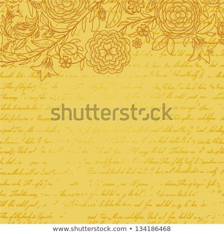 Vintage invitation card with ornate elegant retro abstract flora Stock photo © Morphart