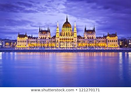 Cityscape Будапешт Венгрия ночь день панорамный Сток-фото © Kayco