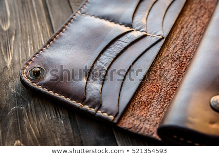 Old leather holster Stock photo © Amaviael