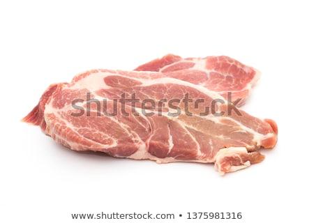 Raw Pork Neck Stock photo © zhekos