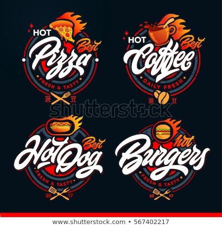 Hot-dog fast food logo Stock photo © Filata