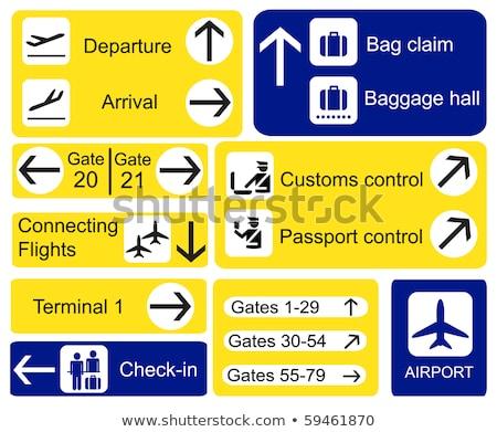 isometrische · ontwerp · luchthaven · reizen · vliegtuig · vliegtuig - stockfoto © studioworkstock