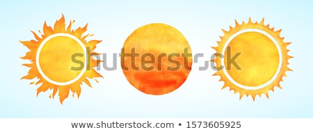 Zon illustratie tonen star tekening ijzer Stockfoto © bluering