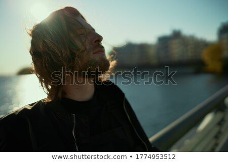 éolienne · soleil · au-dessous · bleu · énergie - photo stock © zurijeta