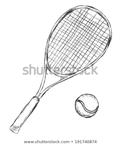 Balle de tennis croquis icône vecteur isolé dessinés à la main Photo stock © RAStudio